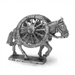 Saddles for carrying the gun wheels