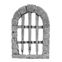 Archway closed by grating
