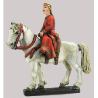 Noble girl on horseback