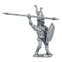 Warrior with lance and shield, throwing,V-IV Cen. B.C.
