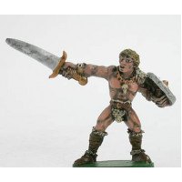 Barbarian with sword. A609, Painted