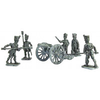 French Line Artillery crew and cannon 8 lb