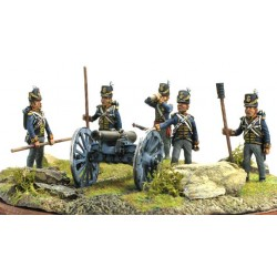 Royal Artillery crew 1815, with 9 bl Cannon