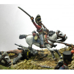 Scots Grey Officer, charging