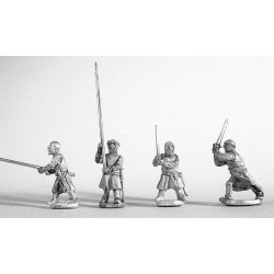Dismounted knights fighting