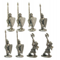 Light infantry with polearms, XII cent.