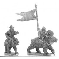 Dwarfes with axe on bears Command Group