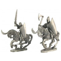 High Elf Cavalrymen, sword and axe