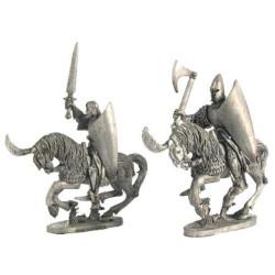 High Elf Cavalrymen, sword and axe