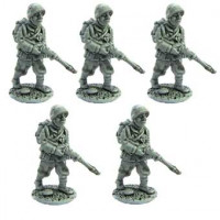Line Infantrymen marching, full pack