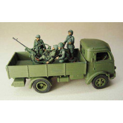 Antiaircraft gun Breda 20/65 for truck