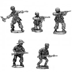 Parachutist of Folgore in different positions