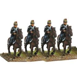 Light cavalry in campaig dress walking