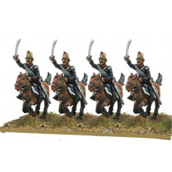 Light Cavalry in campaign dress, charging