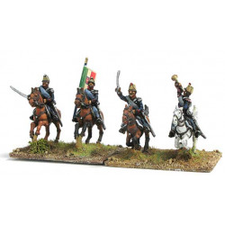 Command group of Light cavalry in campaign dress