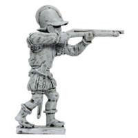 Tuscan handgunner, firing, 1550