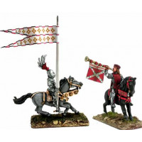 Mounted Trumpeter and Standard Bearer