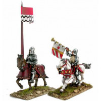 Mounted Trumpeter and Standard Bearer (2)