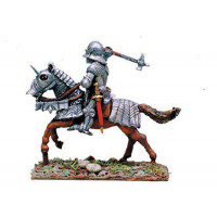 French Knight with hammer, charging 1450