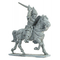 Cavalryman with sword and shield, charging, 1250