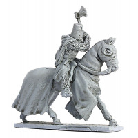 Teutonic Knight with axe, galloping.