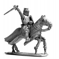 Knight XIII century with sword, charging