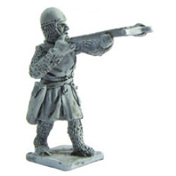 Crossbowman with Cervelliere, aiming 1200-1300