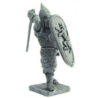 Warrior with shield and sword, 1250