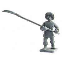 Peasant with pitchfork, attack march, 1250