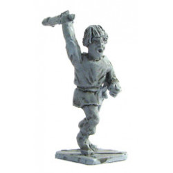 Peasant with club, running, 1250