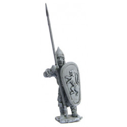 Warrior with shield and sword, standing, 1250