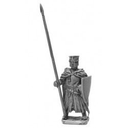 Dismounted Knight standing with lance and shield, 1200-1250
