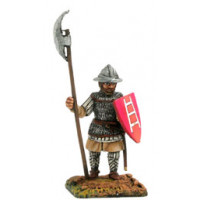 Infantryman with chainmail, kettle hat