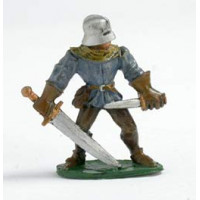 Foot soldier with sword and dagger