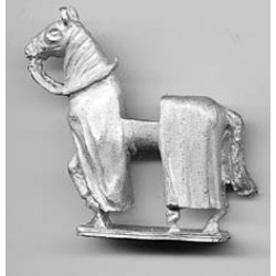 Medieval horse, covered, walking