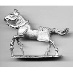 Medieval horse with 'Paio di Barde', galloping