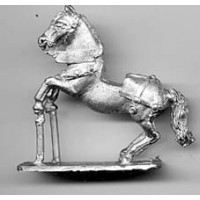 Horse with light harness 1450, rampant