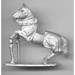 Horse with heavy harness 1450, rampant