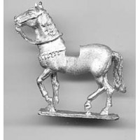 Horse with light harness. For normans, walking