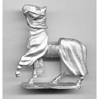 Covered horse for medieaval figures, with lifting up head