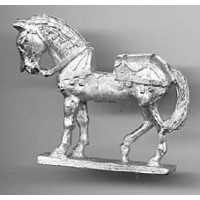 Horse with light harness and iron crownpiece. 1350-1450