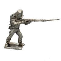 Fusilier with full dress, firing