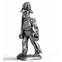 High-ranking Officer with cocked hat, marching