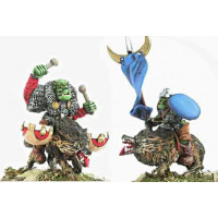 Orc wolf riders Standard bearer and Drummer