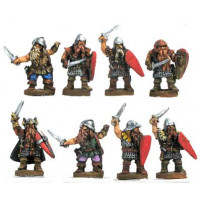 Dwarf warriors with sword and shield