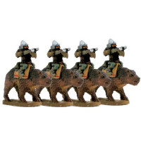 Dwarves on bear with crossbow