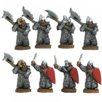 Dwarves warriors with axe and sword