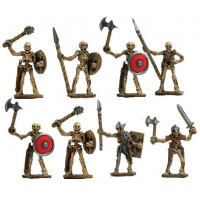 Skeleton Warriors with different weapons