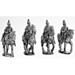 Dragoons walking, hands on bridles