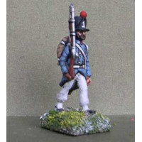 Piedmontese infantryman advancing, with campaign dress